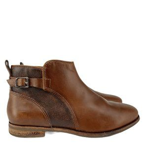 Ugg Womens Almond Toe Brown Demi Boots Size 9.5